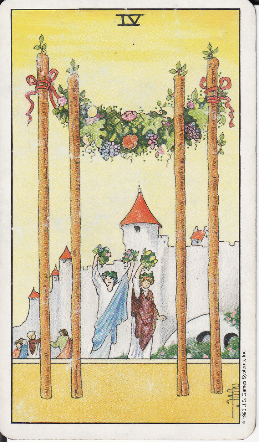 Justice And The 4 Of Wands As Advice