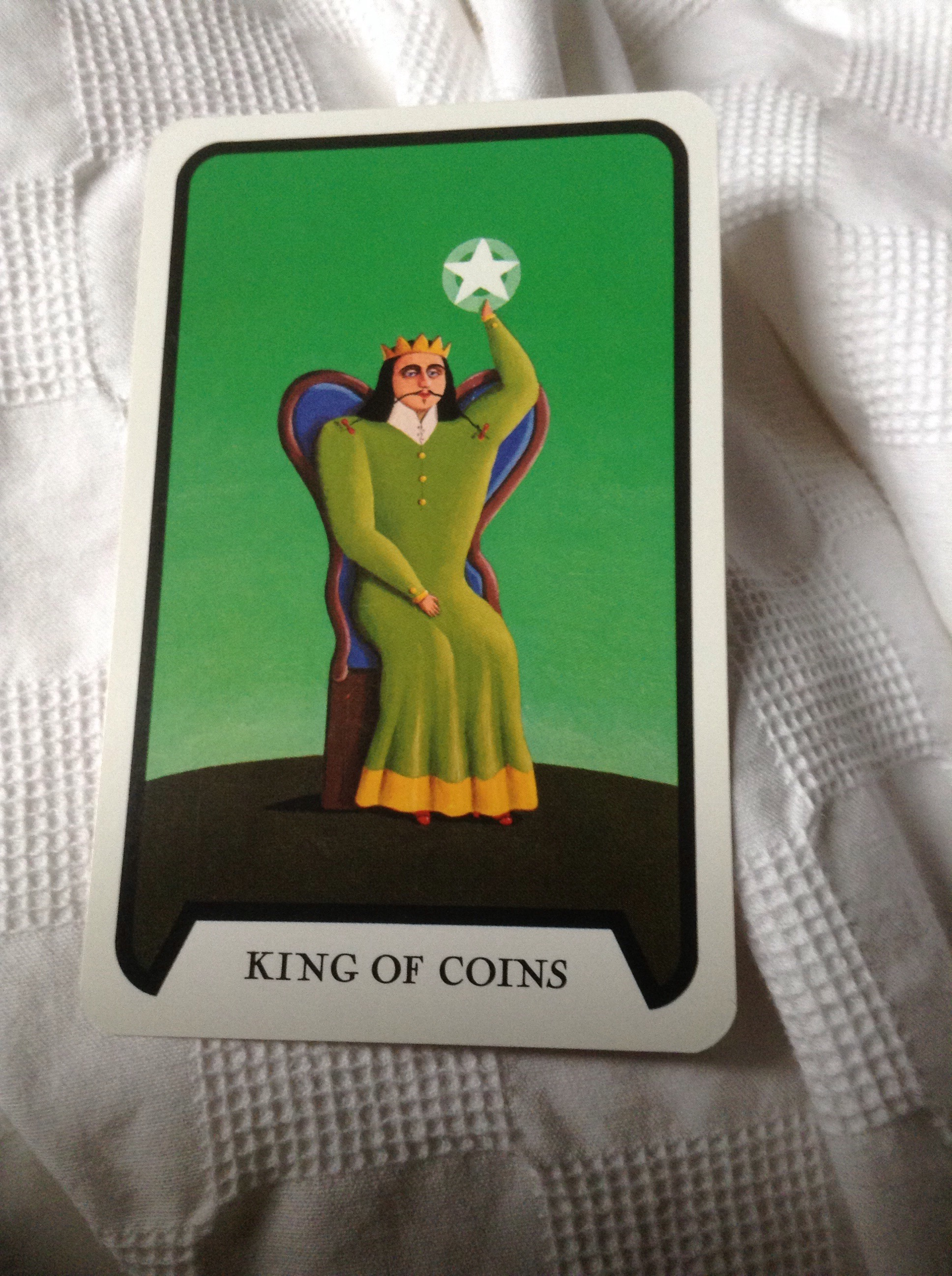 King Of Coins (pentacles) As Advice