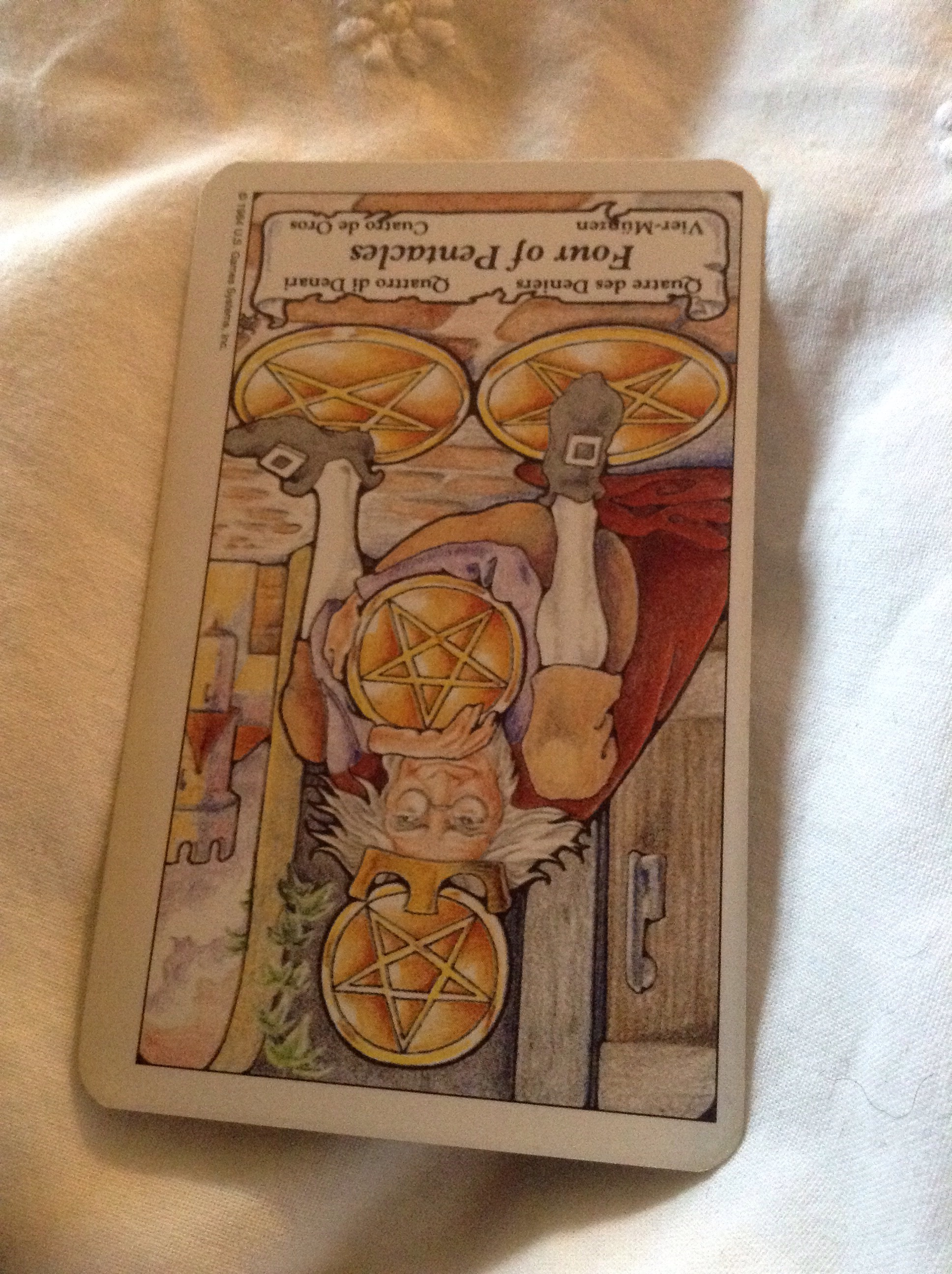 4 Of Pentacles Reversed As Advice