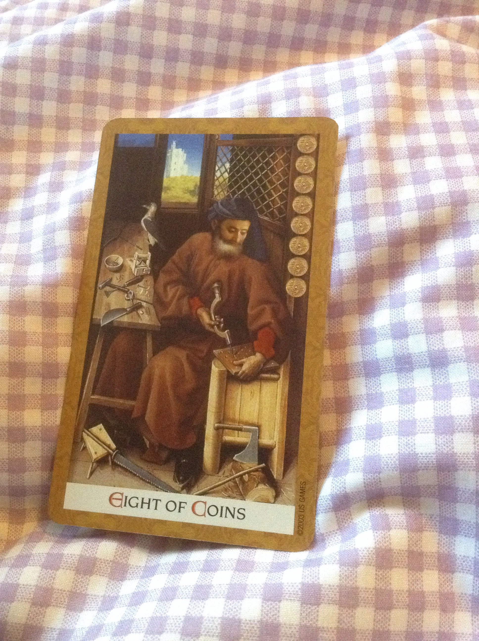 Understanding Tarot The Star: Eight Of Coins As Advice