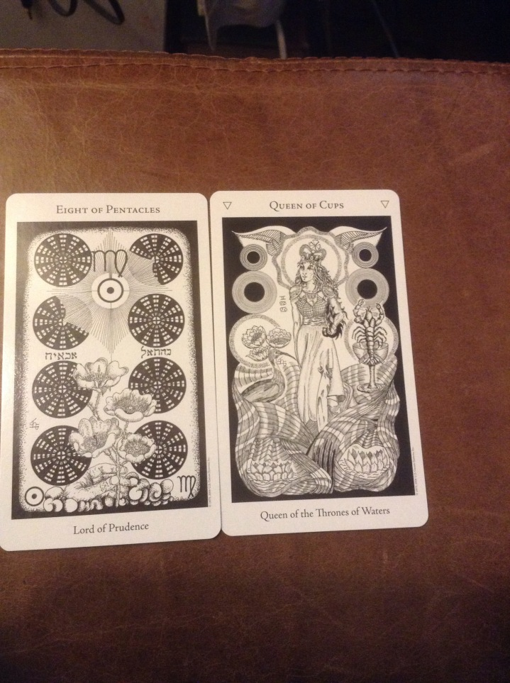 8 Of Pentacles And Queen Of Cups As Advice